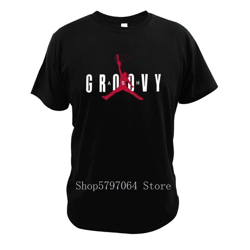 Camiseta Groovy Ash Vs Doomy Evil Dead película moda novedosa manga corta diseño suave comedia película camiseta tamaño UE