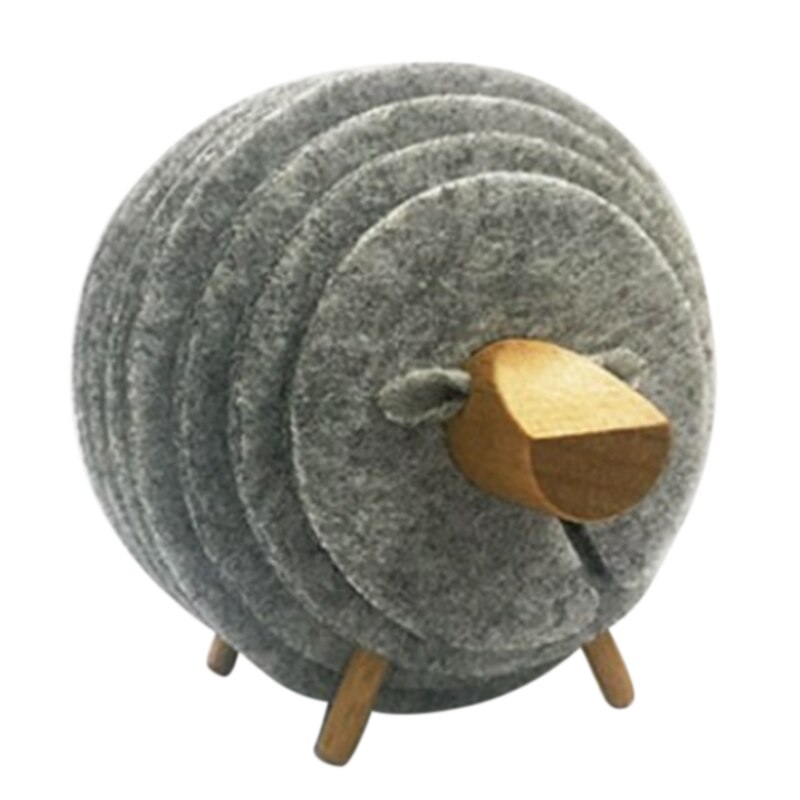 Popular XD-Sheep forma antideslizante posavasos aislados ronda fieltro taza tapetes estilo japonés creativo hogar Oficina Decoración arte artesanías G