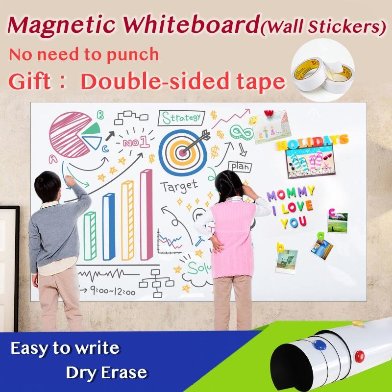 Магнитные наклейки на стену, белая доска для дома и школы, доска для объявлений, календарь, Еженедельный план, размер 420*900 мм