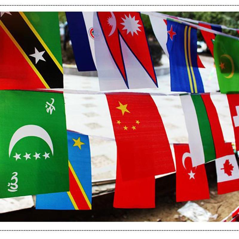 Hot Europa Países Euro Cup País Bandeira Bunting Flags Bandeira Nacional Corda Guirlandas de Evento de Futebol de Qualidade