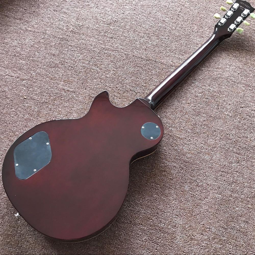 Custom shop,standard electric guitar.fingerboard binding Standard gitaar,one piece neck and one piece body guitarra. enlarge