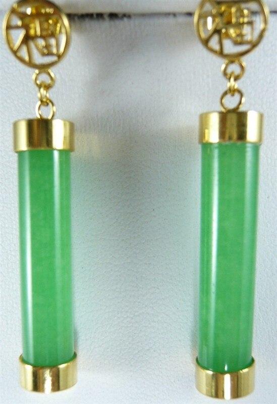 ¡2 colores! Venta al por mayor 20*9mm Y pendientes naturales Verdes/morados