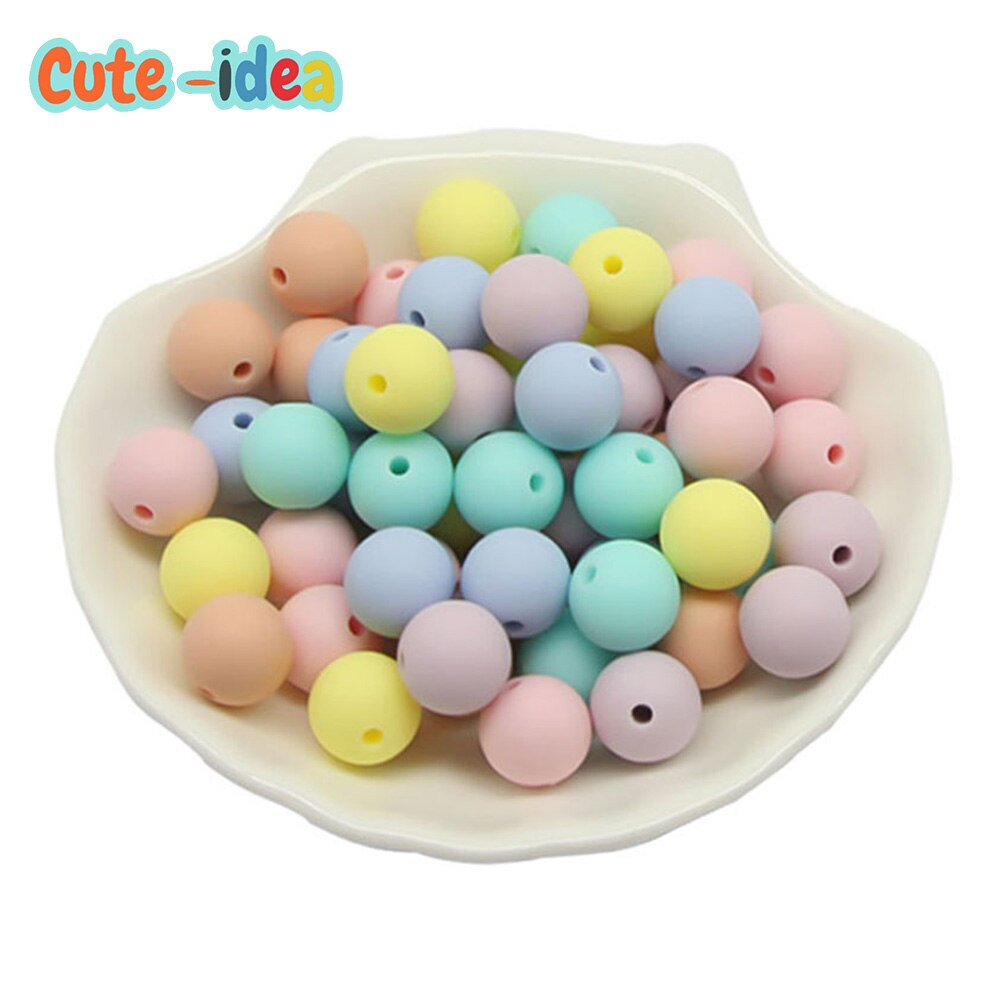 AliExpress - Cute-idea 50pcs 12mm Silicone Beads Food Grade Loose Bead perles Baby Teethers DIY Pacifier Chain Toy Accessories baby goods