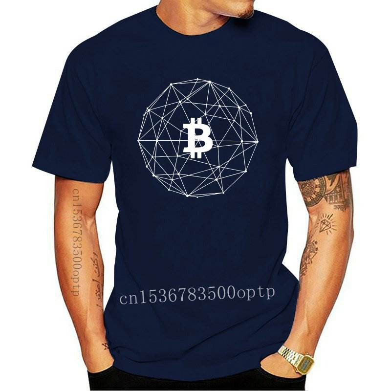New Bitcoin Cryptocurrency Logo Print T Shirt Plus Size Cotton Custom Short Sleeve T Shirts