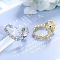 exquisite leaf shape micro paved cubic zircon ear cuffs earrings for women fashion gold silver color no ear hole earring jewelry