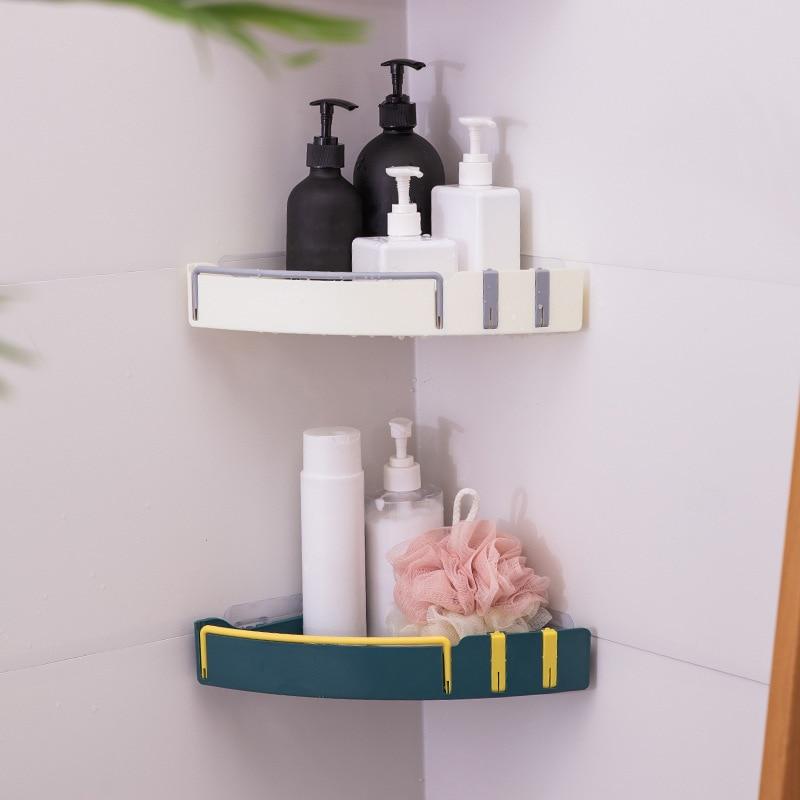 الحمام الزاوية تخزين الرف الجرف الحمام شامبو استحمام حامل الرف المطبخ تخزين الرف المنظم