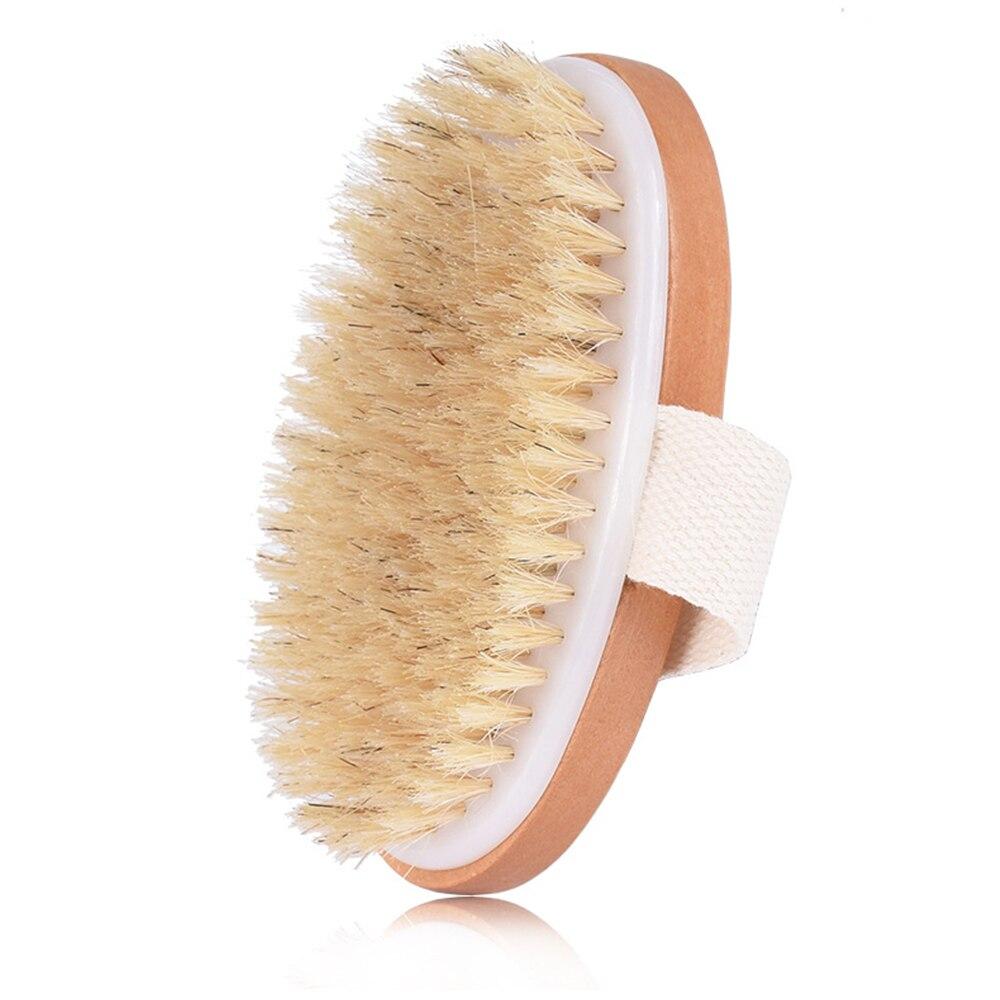 Exfoliating Body Massage Brush Natural Wooden Bristle Bath Brush Soft Shower Brushes SPA Skin Care M