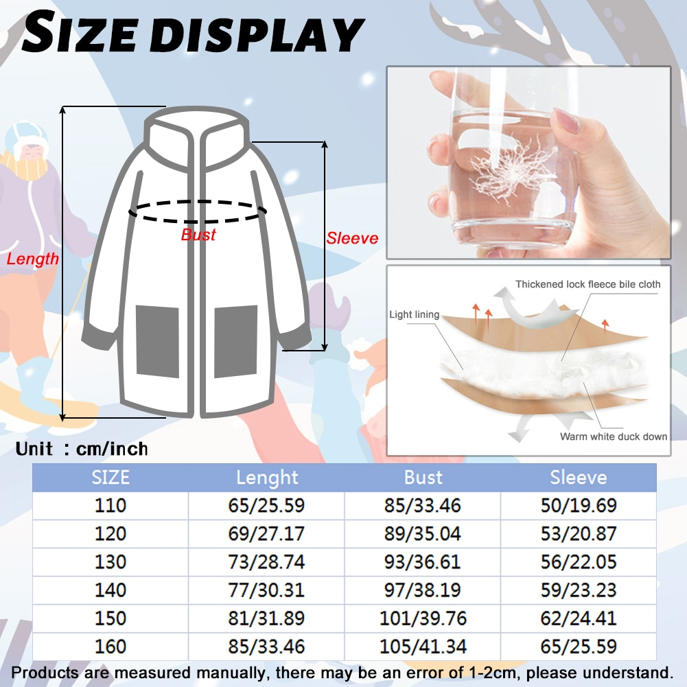 White Duck Down Coats Girls Long Hooded Outerwear Warm Padded Puffer Jackets Winter Thicken Clothes Children Windproof Overcoat enlarge