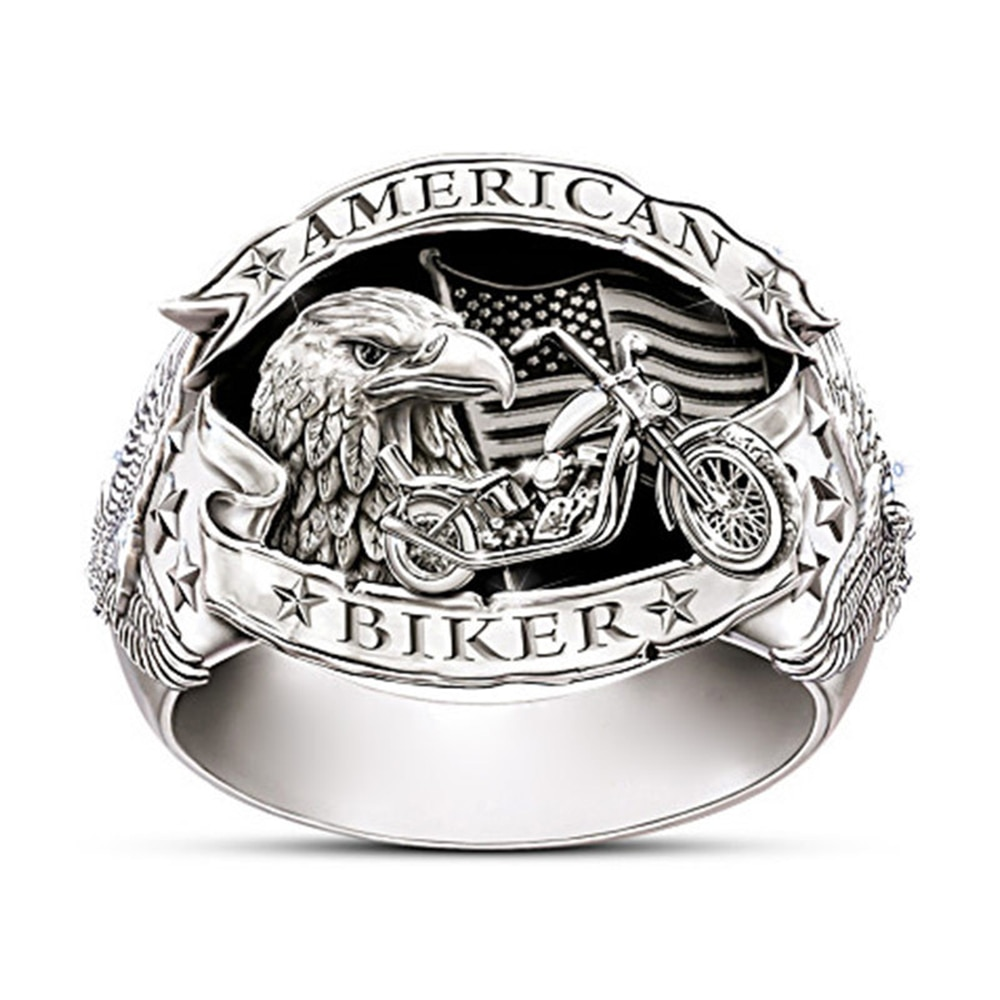 Anneaux maçonniques daigle dacier inoxydable de mode des hommes de Modyle pour la partie de moto Steampunk Hip Hop anneaux frais bijoux