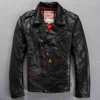 mens genuine leather black jacket vintage classic motorcycle biker casual soft cowhide male slim fit spring autumn russia coats