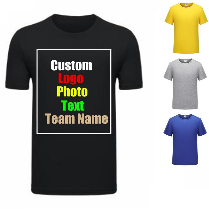 t shirt diy Art Shirt DIY Photo Logo Customized Print T Shirt Summer Brand Lover Shirt Top Tees T-shirt Men's Blouses Anime