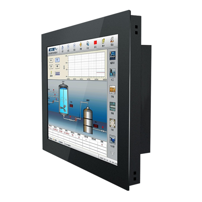 Monitor for Tablet Industrial 15 Inch LCD Display Desktop Screen HDMI 1024*768 Resistive Touch Screen Buckles Mounting