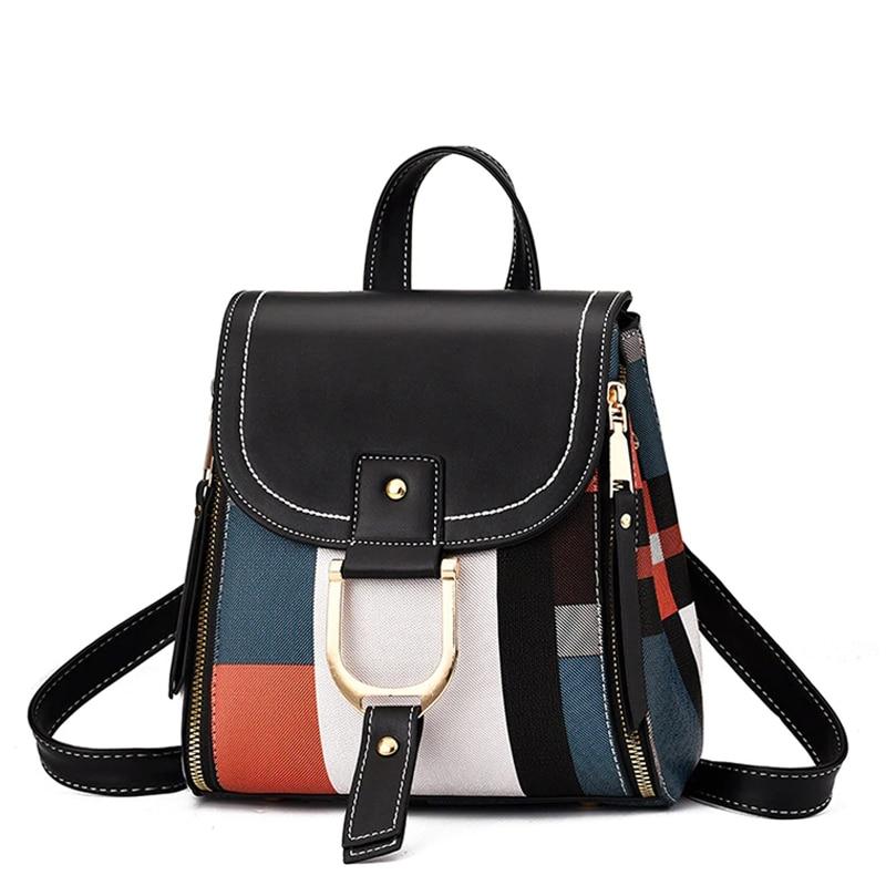 Bolso escolar para mujer, bolso de mano informal para adolescentes y niñas, mochila bandolera de cuero para mujer, bolso cruzado para chica