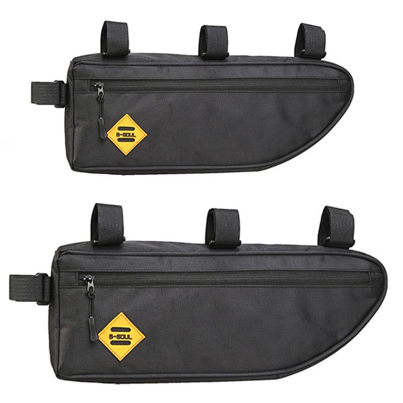 Bolsa triangular para bicicleta nueva, bolsas de tubo de cuadro frontal, impermeable, gran capacidad, bolsa de accesorios para embalaje de alforjas de ciclismo