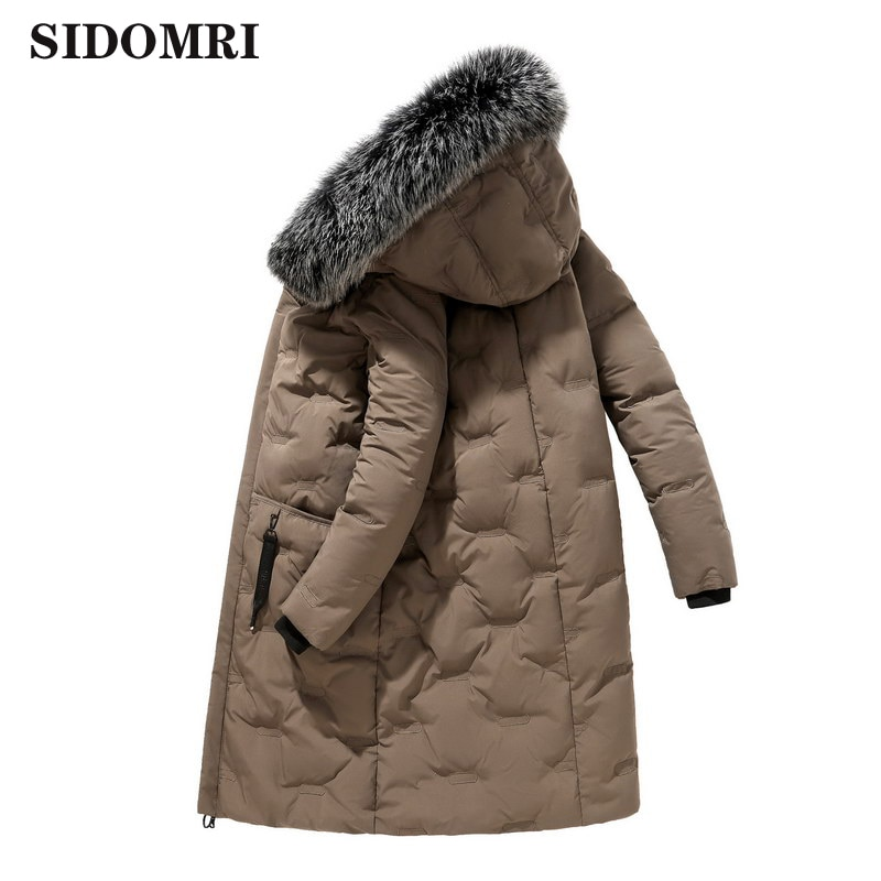Winter Jackets 90% Hooded Long Down Jacket  with fox fur collar Thick Keep Warm Plus Long  Down Coat fashion high quality