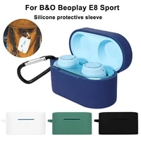 silicone case for bang olufsen beoplay e8 wireless bluetooh earphone protective case earbuds charging box with anti lost hook
