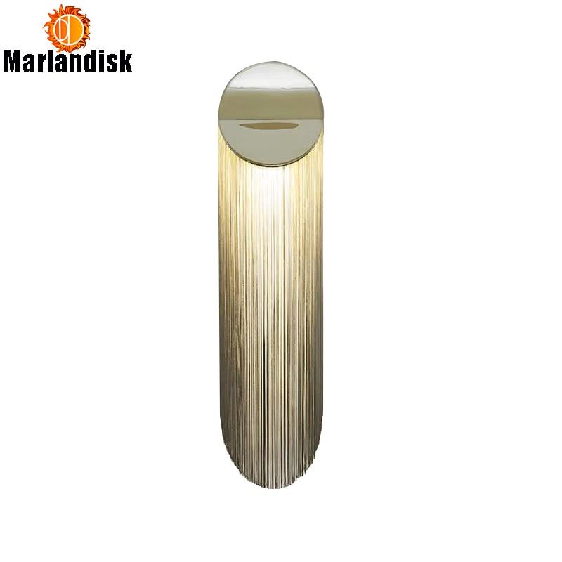 وشملت مع E14 LED لمبة الفاخرة الألومنيوم سلسلة جدار مصباح LED الذهبي جدار الشمعدان تركيبات للجلوس غرفة نوم السلالم (DA-25)