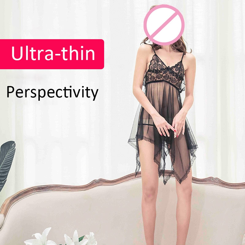 ملابس داخلية مثيرة للجنس للمرأة الداخلية المثيرة المجوفة بيبي دول أزياء نسائية فستان من الدانتيل فستان نسائي مثير