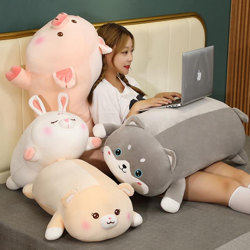 Peluche de cerdo Animal de caricatura para niños y niñas, juguete de...