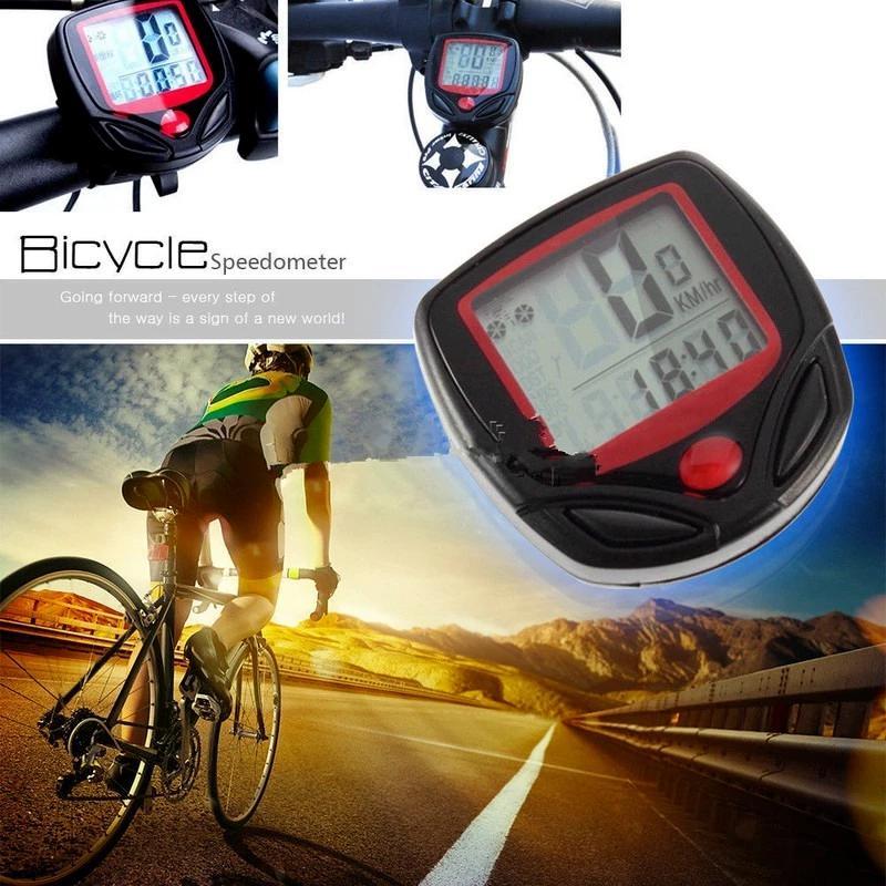 Водонепроницаемый велосипедный компьютер с ЖК цифровым дисплеем, велосипедный одометр, спидометр, секундомер, аксессуары для езды