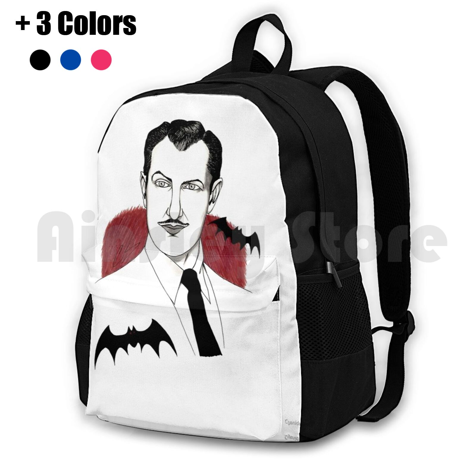 Vincent Price Outdoor Hiking Backpack Waterproof Camping Travel Vincent Price Horror Acting Classic Goth Gothic Horror Movies