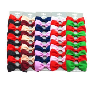 20PCS/Lot Lovely Two Colors Hairpins Bow Grosgrain Ribbon Bows Clips 2020 Korean Creativity Hair Accessories For Baby Girls NEW