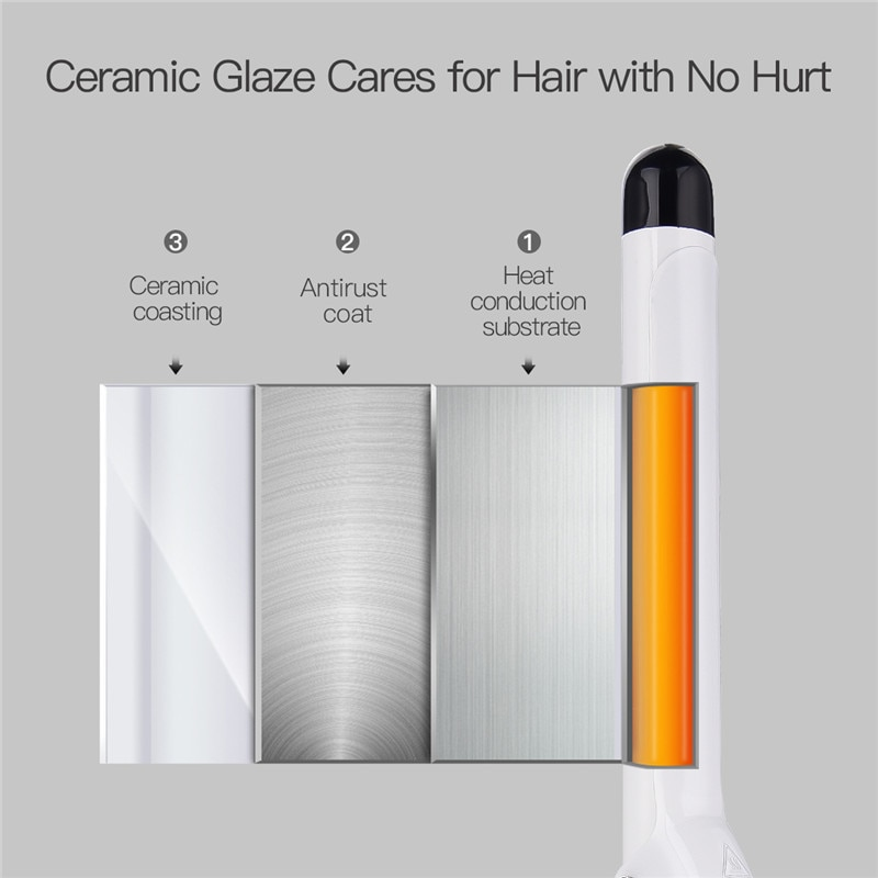 32mm 25mm Professional Nano Ceramic Hair Curler Constant Temperature Curling Wand Roller Waver Curl Hair Styling Tools