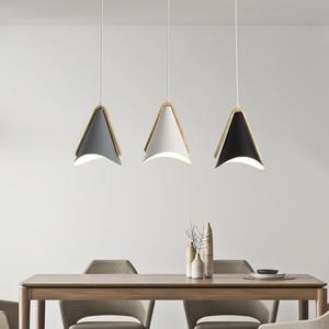 Скандинавское Дерево Подвесные светильники приспособление для кухни обеденная прикроватная Подвесная лампа современный подвесной светильник внутреннее украшение