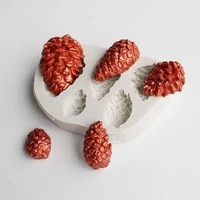 new christmas pine cones silicone fondant mold for chocolate lace cake pastry decoration kitchen baking tool