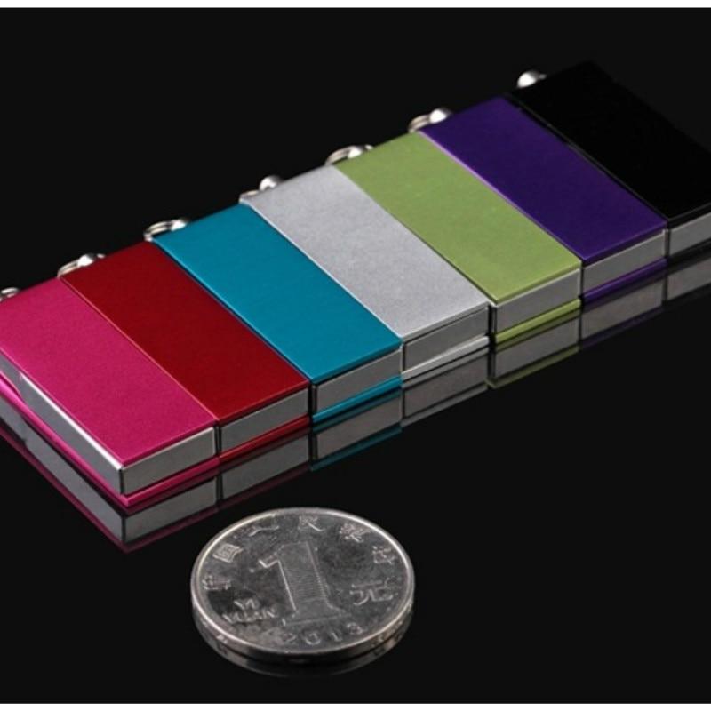 Unidad Flash USB de 1GB, 2GB, Mini Pendrive de Metal giratorio USB...