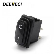 KCD3 водонепроницаемый ip67 Черный тумблер 2 контакта ВКЛ ВЫКЛ spst замораживание pc кнопка питания клавишный переключатель