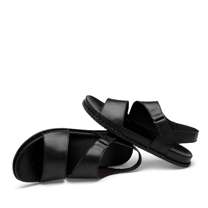 Trabajo masculino deportivo para sandalias sandel negro hombre caucho verano ete sandalias hombres cuir homme para sandalias sandali