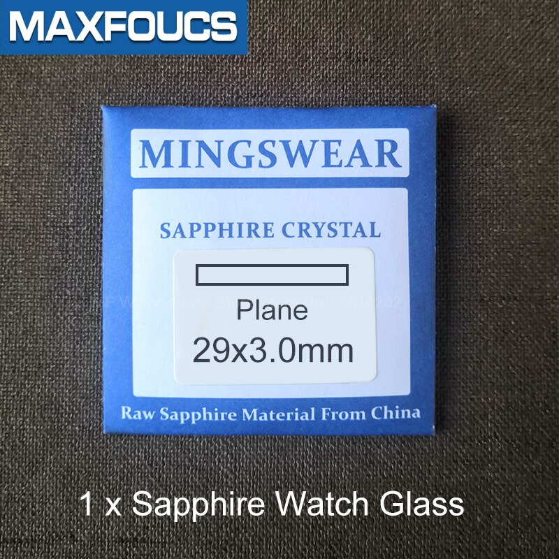 Watch Glass Sapphire crystal Watch parts Replacement Flat 2.7-2.8-3.0mm Thick in Diameters 20mm-29.5mm  - buy with discount