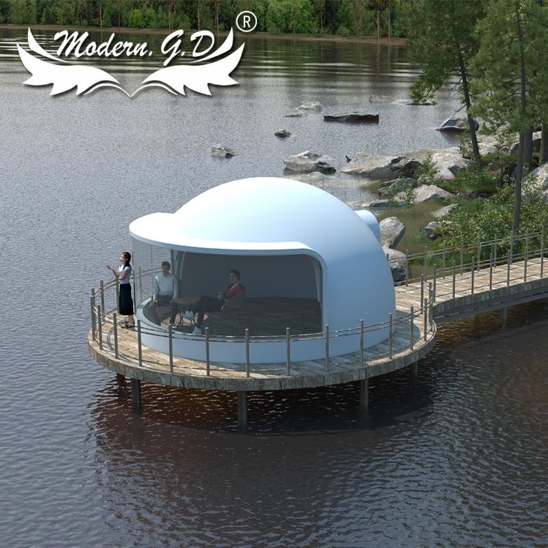 خيمة منزلية من طابق واحد ذات قبة