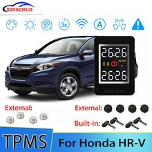 Smart Car TPMS Tire Pressure Monitor System For Honda HRV HR-V With 4 Sensors Wireless Alarm Systems