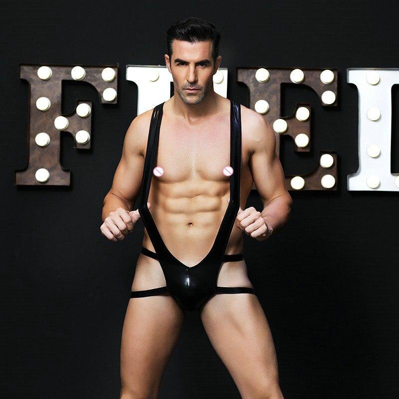 Сексуальное мужское черное кожаное нижнее белье Nick Zapp, эротическая одежда с поясом, нижнее белье для мужчин, эротическое нижнее белье для му...