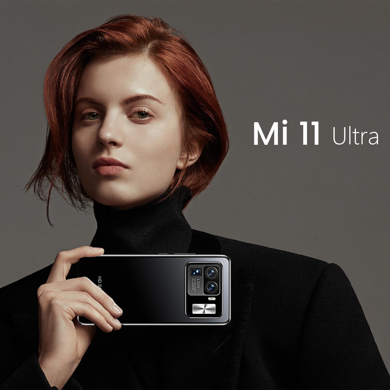 2021 New Xiomi Mi 11 Ultra 6.7 Inch Smartphones 6800mAh Dual 8GB RAM 512GB ROM 16 32MP 4G LTE 5G MTK