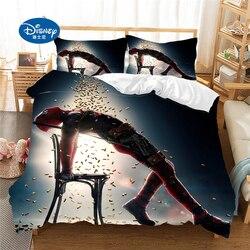Disney conjunto de cama capa edredon deadpool fronha adultt rainha rei tamanho conjunto cama gif
