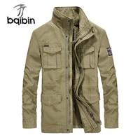 Quality Brand Cargo Military Jacket Men Autumn Winter Cotton Multi-pocket Outwear Army Mid-long Coat Male Chaqueta Hombre M-4XL