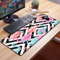 xgz red crowned crane animal mouse pad led rgb backlight pad mini non slip game player accessories mouse pad desk pad xxl large