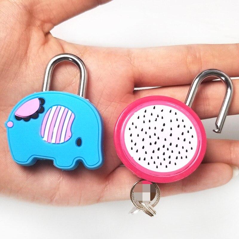 5 unids/lote dulce muñeca de dibujos animados Animal Mini candado de Metal de silicona Anti-ladrón bloqueo de seguridad material de escritorio escolar