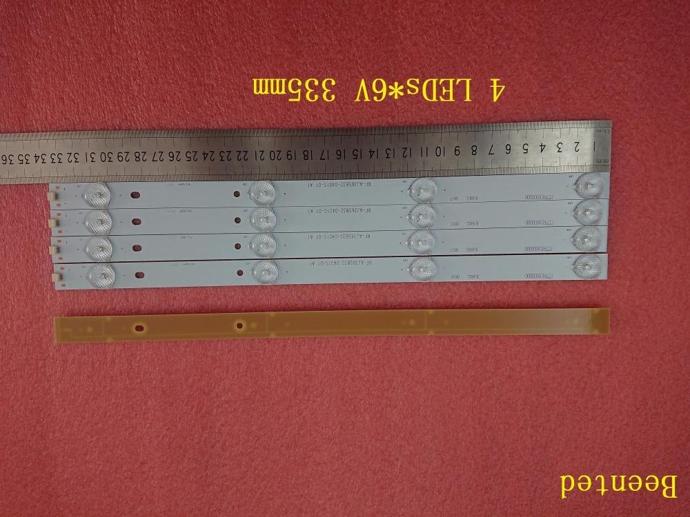 Beented New 4 PCS*4 LEDs*6V 335mm*16mm LED backlight strip RF-AJ365B32-0401S for 32 inch 40 42 TV