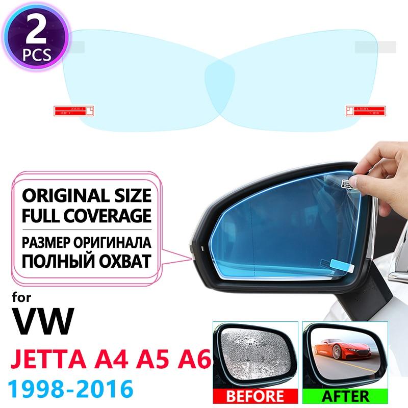 Espejos retrovisores de película Anti niebla cubierta completa para Volkswagen VW Jetta A4 A5 A6 mk4 mk5 mk6 Bora 1J 1K 5C6 1998 ~ 2016 accesorios para coche