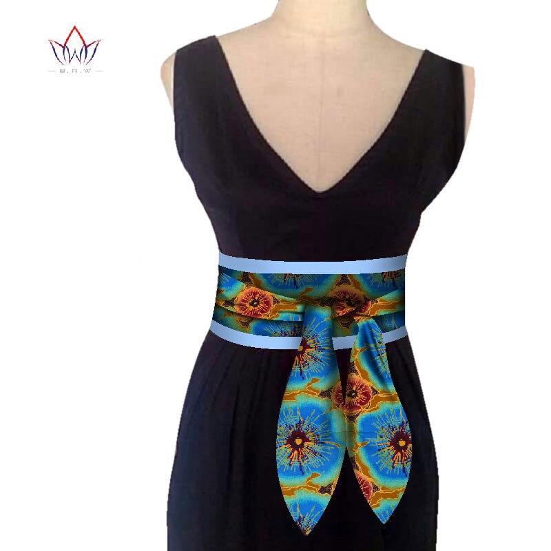 BRW 2020 estampado africano Obi Ankara verde amarillo Peplum cinturón botón faldas para mujeres regalo hecho a mano cinturón llamativo accesorio WYB268