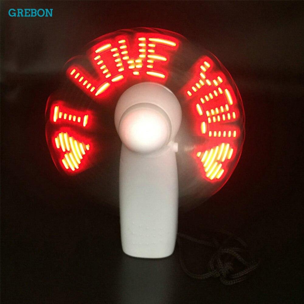Светящийся портативный вентилятор, мини светодиодный необычный светильник, ручной вентилятор, мощность, воздушное охлаждение, летний гибк...