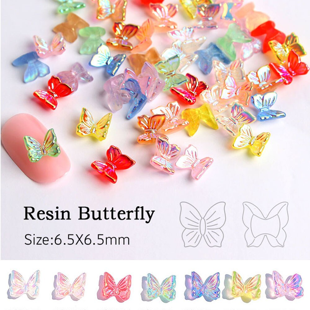 30 Uds 3D resina purpurina AB Nail Art decoraciones encanto DIY polaco manicura accesorios para manicura