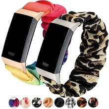 Women Scrunchie Elastic watch strap For Fitbit Charge 4 3 Band watches Replacement Bands Soft Elasti