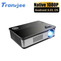 TRANSJEE     projecteur LED Full HD 1080P  1920x1080P  280 pouces  Wifi  intelligent  compatible avec Home cinema 3D 4K
