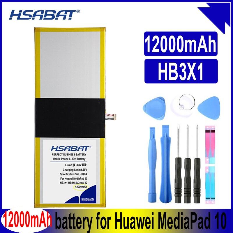 HSABAT HB3X1 HB3484v3eaw-12 12000mAh Tablet batería de PC para Huawei MediaPad 10 Link S10-201wa