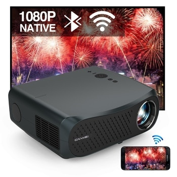 CAIWEI A12AB Native 1080P 7200 Lumens LED Android 6.0 Wifi Bluetooth Projector Full HD for Home Cinema  Video  LCD Movie Beamer